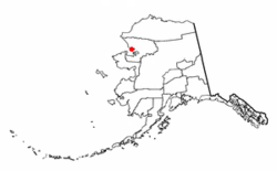 Location of Kotzebue in Alaska