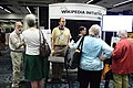 APS Wikipedia booth in action 2, 2011-05-28.jpg