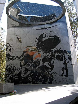Vietnam Forces National Memorial - Images on back wall