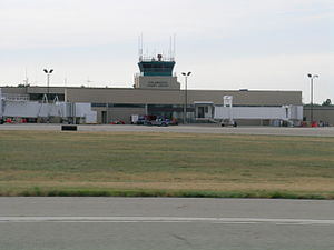Kalamazoo/Battle Creek International Airport - The former AZO Terminal and ATC Tower