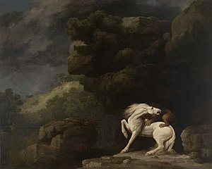 George Stubbs - A Lion Attacking a Horse, oil on canvas, 1770, by Stubbs. Yale University Art Gallery