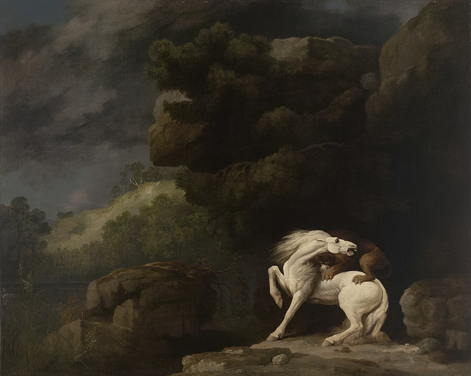 A Lion Attacking a Horse by George Stubbs 1770.jpeg