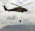 A U.S. Army flight medic assigned to the 1st Battalion, 228th Aviation Regiment, Joint Task Force-Bravo conducts a simulated rescue of a fellow U.S. Service member assigned to the task force from the waters 140225-F-BZ556-0012.jpg