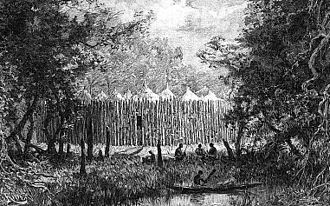 Boma (enclosure) - Image: A boma in the forest