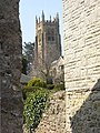 A glimpse of Beaminster Church from St. Mary Well Street - geograph.org.uk - 1232652.jpg