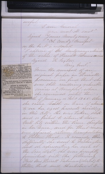 File:A history concerning the pension claim of Harriet Tubman, page 3.tif