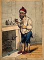 A man standing by a fireplace, pulling a peculiar face after Wellcome V0011207EL.jpg