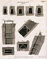 A mine; cross-sections of a pulley and tunnels in the mine. Wellcome V0023519.jpg