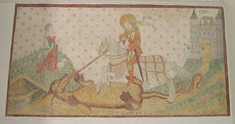 Church frescos in Denmark - St. George in Aarhus Cathedral