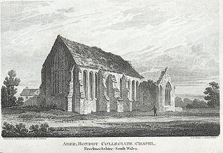 Aber Honddu collegiate chapel: , Brecknockshire, south Wales
