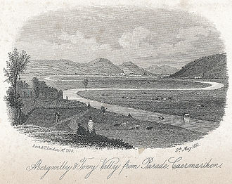 Abergwili - Image: Abergwilly & Towy Valley from Parade, Caermarthen