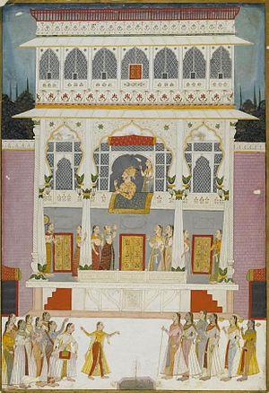 Jharokha Darshan - Maharaja Bakhat Singh at the Jharokha window of the Bakhat Singh Mahal