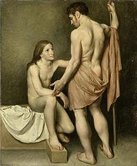 Étude de nu d'un homme et d'une femme