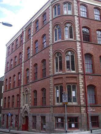 Adams Building, Nottingham - Exterior of rear section – The Adams Building.