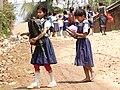 Adivasi (Indigenous) Schoolgirls - Rangamati - Chittagong Hill Tracts - Bangladesh (13241186474).jpg