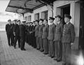 Admiral Cunnningham Inspects Men Who Took Part in North Africa Operations. 24 December 1942, Algiers, Admiral Sir Andrew Cunningham, Naval Commander-in-chief, Expeditionary Force, Inspected Naval and Airforce P A13654.jpg