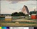 Adolf von Becker - Lohjan kirkko, harjoitelma - A II 875-2 - Finnish National Gallery.jpg
