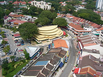 Holland Village, Singapore - Aerial view of the Bukit Timah portion of Holland Village