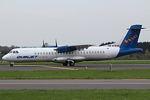 Quikjet Airlines - Image: Aerospatiale ATR 72 202 Quik Jet India HB AFW, LUX Luxembourg (Findel), Luxembourg PP1367336774