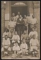 African American baseball team posing on front steps of building LCCN2015649999.jpg