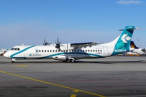 Turboprop - An ATR-72, a typical modern turboprop aircraft
