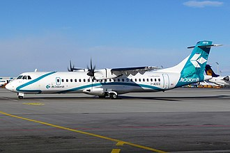 Turboprop - An ATR-72, a typical modern turboprop aircraft