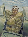 Air Vice-Marshall Sir Keith Park, KBE, CB, MC, DFC, Air Officer Commanding Malta, in his 'plane (Art.IWM ART LD 3258).jpg