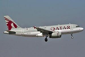 Airbus A319-133LR Qatar Airways A7-CJA.jpg
