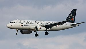 Spanair - Spanair Airbus A320-200 in Star Alliance livery