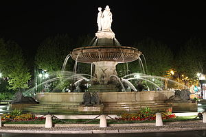 Aix-en-Provence - The Fontaine de la Rotonde, built in 1860