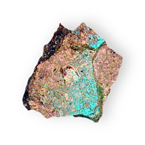 Ajoite 2 in rock Copper aluminum silicate New Cornelia Mine Ajo Pima County Arizona 2131.jpg