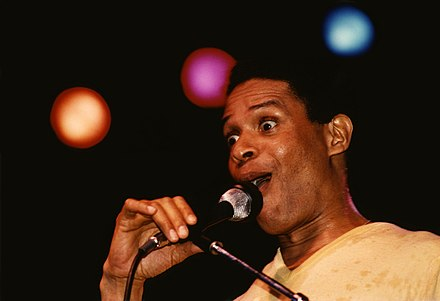 Al Jarreau during a concert in Germany in early 1981 AlJarreauEarly1980s (edited).jpg
