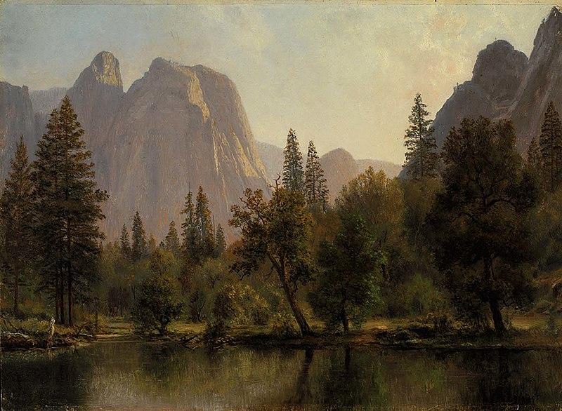 File:Albert Bierstadt - Cathedral Rocks, Yosemite Valley.jpg
