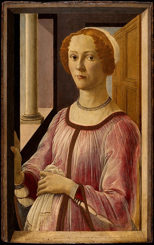 """Portrait of a Lady Known as Smeralda"" by Botticelli"