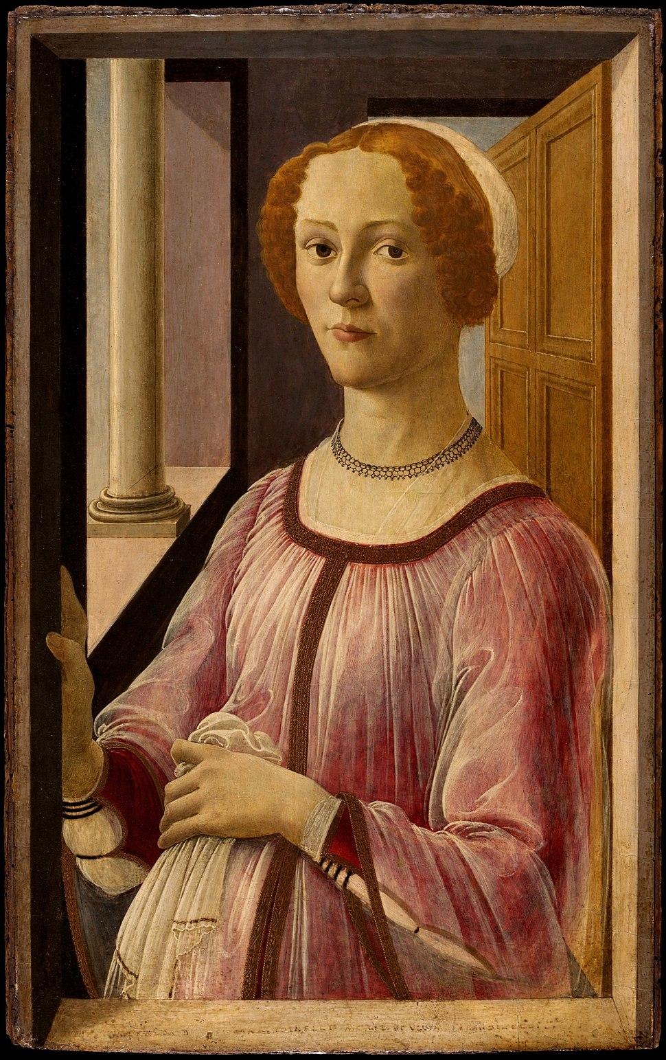 Alessandro Botticelli Portrait of a Lady (Smeralda Brandini