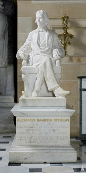 Alexander Hamilton Stephens (sculpture) - The statue in 2013
