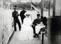 Alexander Kircher with his wife on his steamer yacht Romana, circa 1912.png