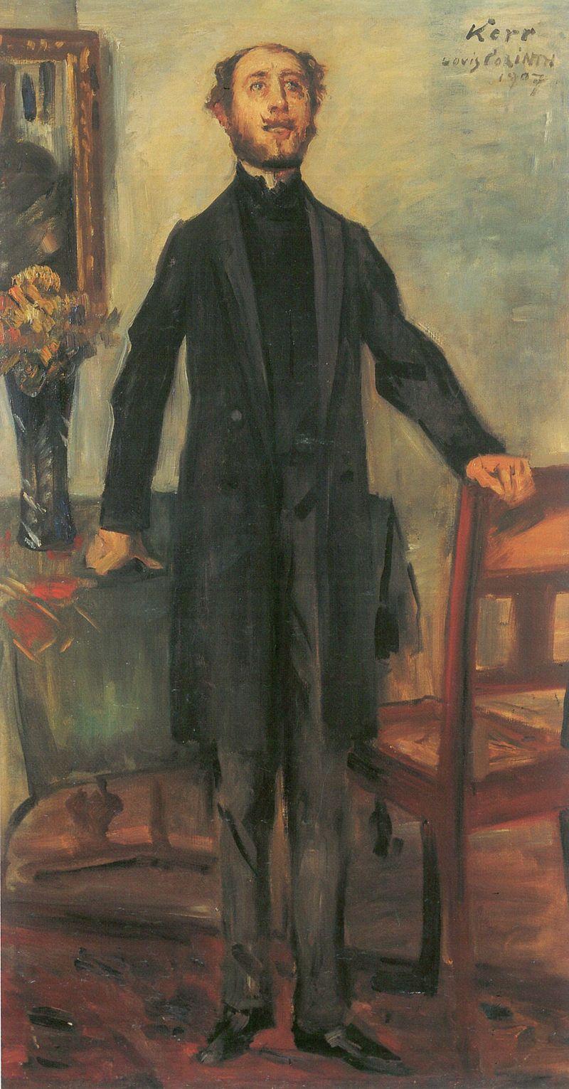 Alfred Kerr, by Lovis Corinth, 1907.jpg