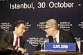 Ali Babacan, Valdis Zatlers - World Economic Forum Turkey 2008.jpg