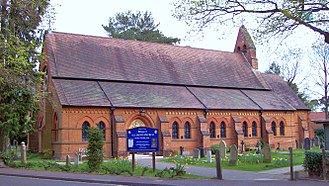 William Burges - All Saints Church, Fleet, in Hampshire, before an arson attack in 2015