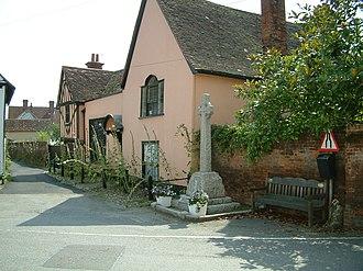 Nayland - Image: Alston Court and War Memorial, Nayland Village centre