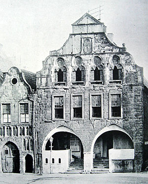 Timeline of Dortmund - Old Town Hall, in use circa 1240 (photo circa 1890s)