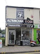 Vape shop in Altrincham, Greater Manchester, England.