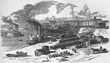 1879 illustration of Memphis, showing the city's cotton industry