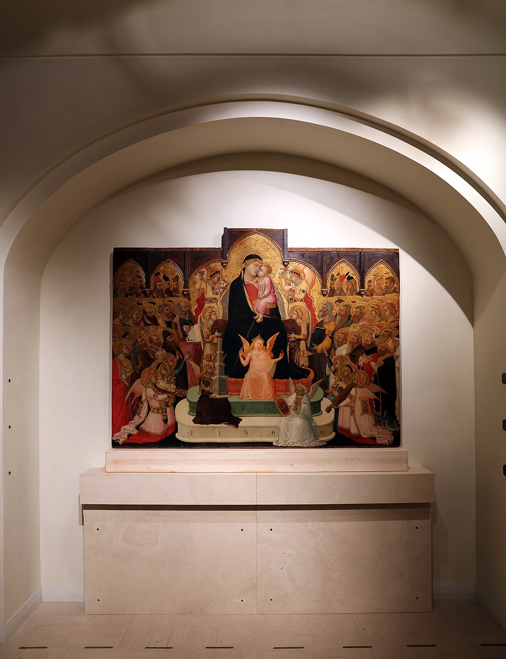 Ambrogio Lorenzetti, Maestà, Museo di Arte Sacra (Massa Marittima)