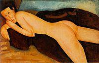 Amedeo Modigliani, Nu couché de dos.jpg