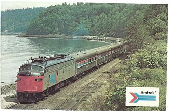 Coast Daylight - A 1974 postcard of the Coast Starlight/Daylight