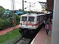An Royapuram (RPM) WAP-7 at Tambaram station, Tamil Nadu.jpg