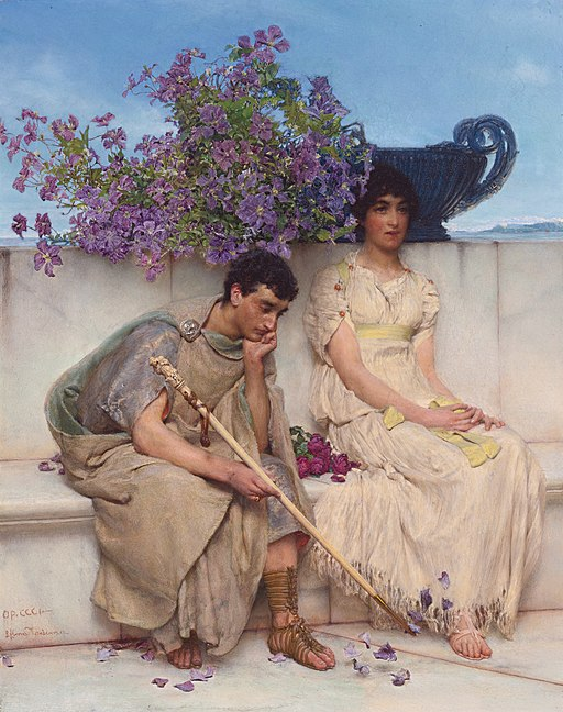 An eloquent silence, by Lawrence Alma-Tadema