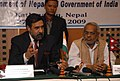 Anand Sharma addressing a press conference at the signing ceremony of the 2009 India-Nepal Treaty of Trade and Agreement of Cooperation to Control Unauthorized Trade, in Kathmandu, Nepal on October 27, 2009.jpg